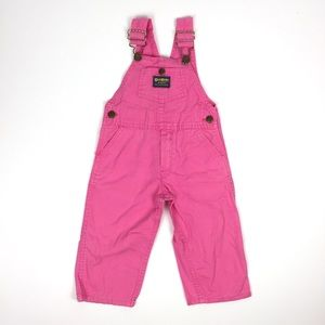Vintage OshKosh Bright Pink Overalls 3T USA